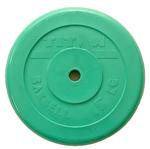 Диск обрезиненный зеленый 15кг