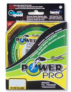 Плетеный шнур Power Pro Hi-Vis Yellow 135м фото