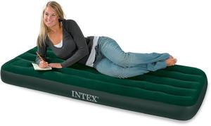 Кровать Intex Downy 76x191x22 см флок, встроенный ножной насос 66950 фото