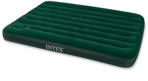 Кровать Intex Downy 137x191x22 см флок, встроенный ножной насос 66928 фото